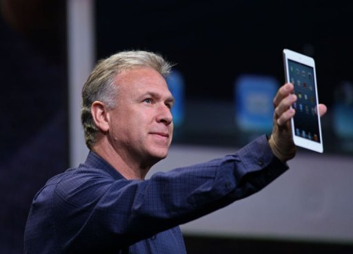 Apple Senior Vice President of Worldwide Marketing Phil Schiller announces the iPad Mini during Apple's special event at the California Theatre in San Jose, California. Apple introduced the iPad mini, confident that a smaller version of its beloved tablet computer will trump lower-priced offerings by rivals Amazon, Google and Samsung