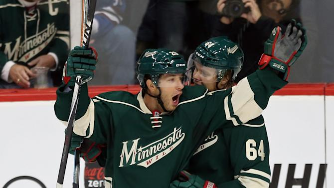 Parise, Wild blank Avalanche 5-0 in opener