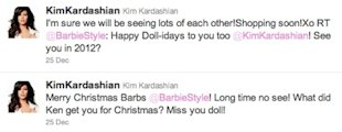 kim kardashian barbie tweets