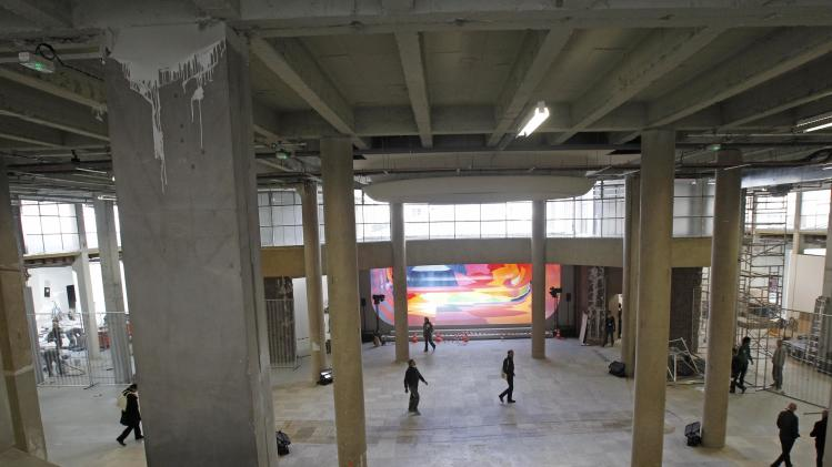 View of the main room of the Palais de Tokyo in Paris, Thursday, April 12, 2012. After six months of works, this museum devoted to contemporary art will reopen to the public on April 20. (AP Photo/Remy de la Mauviniere)