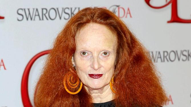 """This June 4, 2012 photo released by Starpix shows Vogue stylist and former model Grace Coddington at the 2012 CFDA Fashion Awards, sponsored by Swarovski, at  Alice Tully Hall in New York. Coddington is the author of a book titled, """"Grace: A Memoir,"""" released Nov. 20, 2012 by Random House. (AP Photo/Starpix, Marion Curtis)"""