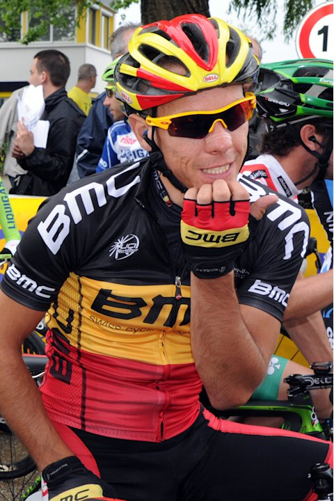 Belgium Philippe Gilbert waits for the s