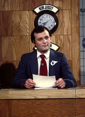 Bill Murray on Weekend Update on NBC's Saturday Night Live Saturday Night Live