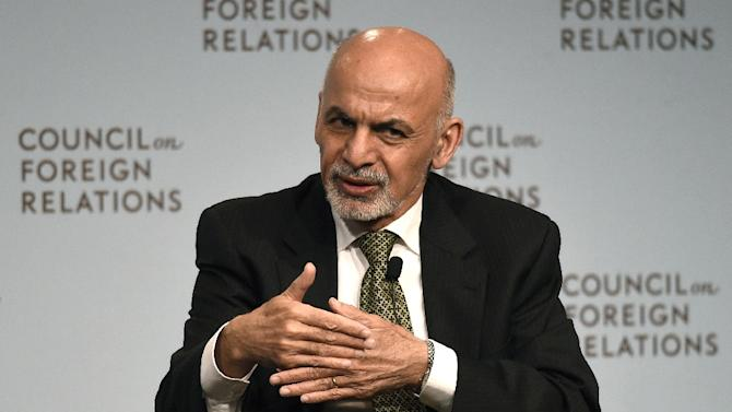 The President of Afghanistan Ashraf Ghani answers questions at the Council on Foreign Relations on March 26, 2015 in New York
