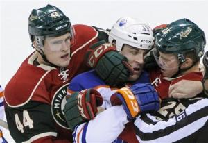Wild snap skid with snippy 4-3 win over Oilers