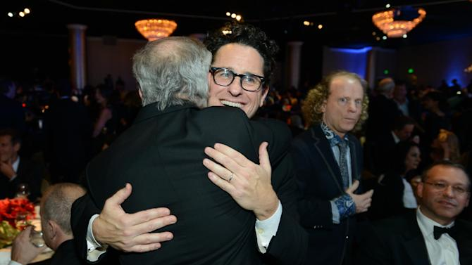 Steven Spielberg, left, and J.J. Abrams are seen in the audience at the 24th Annual Producers Guild (PGA) Awards at the Beverly Hilton Hotel on Saturday Jan. 26, 2013, in Beverly Hills, Calif. (Photo by Jordan Strauss/Invision for Producers Guild/AP Images)