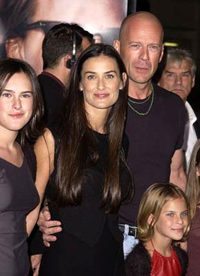 Rumer Willis , Demi Moore , Bruce Willis and Tallulah Belle Willis at the Westwood premiere of MGM's Bandits
