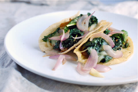 Pinto Bean and Kale Tacos