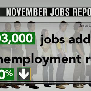 November's job report is strongest in five years