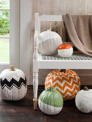 Paint Patterned Pumpkins