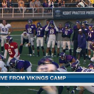Minnesota Vikings quarterback Teddy Bridgewater accounts for two TDs in scrimmage