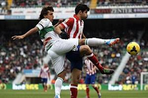 Elche 0-2 Atletico Madrid: Costa on target again as Rojiblancos pile pressure on Barcelona