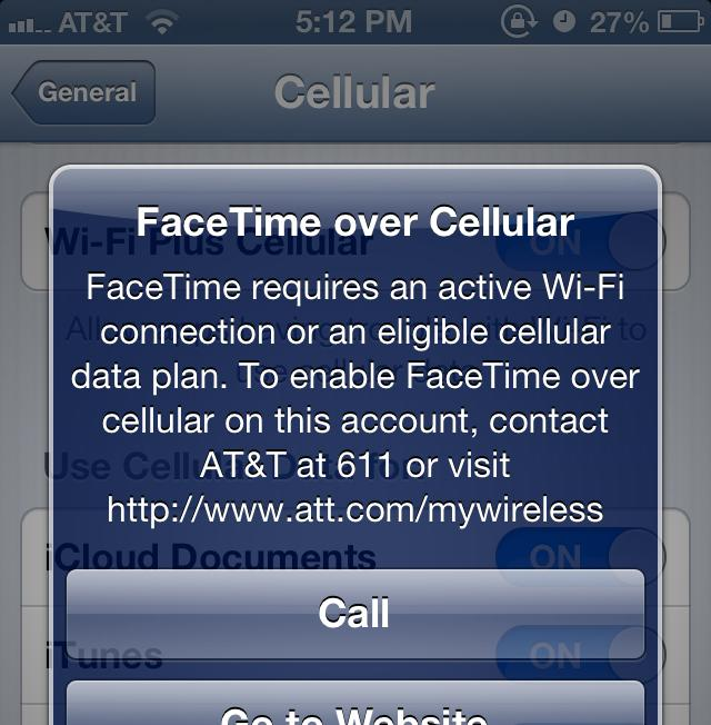 Angry AT&T customer files formal complaint over FaceTime restrictions