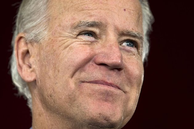 Vice President Joe Biden smiles while attending a campaign rally at the Municipal Auditorium. in Sarasota, Fla., Wednesday, Oct. 31, 2012. (AP Photo/Matt Rourke)