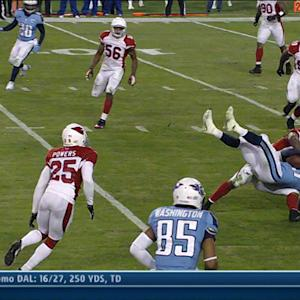 Arizona Cardinals linebacker Daryl Washington takes down Tennessee Titans receiver Kendall Wright MMA style