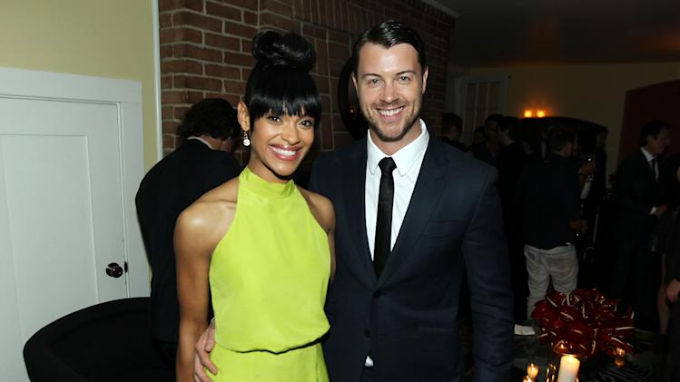 "Cynthia Addai-Robinson, left, and Dan Feuerriegel pose together at the after party for the premiere of ""Spartacus: War of the Damned"" on Tuesday, Jan. 22, 2013 in Los Angeles. ""Spartacus: War of the Damned"" premieres Friday, Jan. 25 at 9PM on STARZ. (Photo by Matt Sayles/Invision for STARZ/AP Images)"