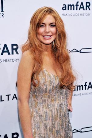 Lindsay Lohan seen at the amfAR New York Gala to kick off Fall 2013 Fashion Week at Cipriani Wall Street in New York City on February 6, 2013  --