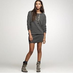slouch booties dress