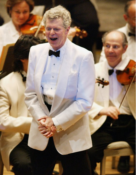 FILE - This July 12, 2003 file photo shows pianist Van Cliburn after performing with the  Boston Symphony Orchestra as the Orchestra plays &quot;Happy Birthday,&quot; on his 69th birthday at Tanglewood in Lenox