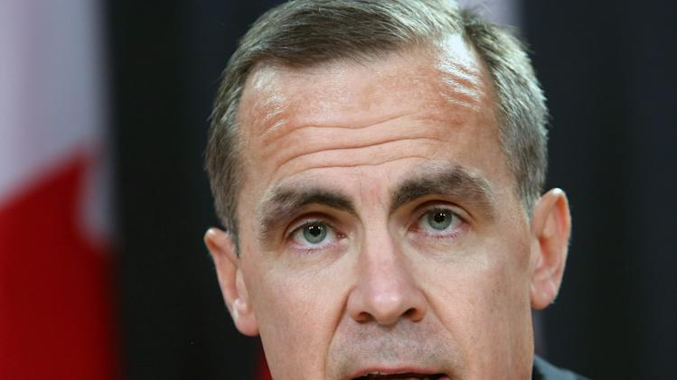 Bank of Canada Governor Mark Carney speaks at a news conference in Ottawa, Ontario, Monday Nov. 26, 2012.  Carney will become head of the Bank of England next summer. (AP Photo/The Canadian Press, Fred Chartrand)