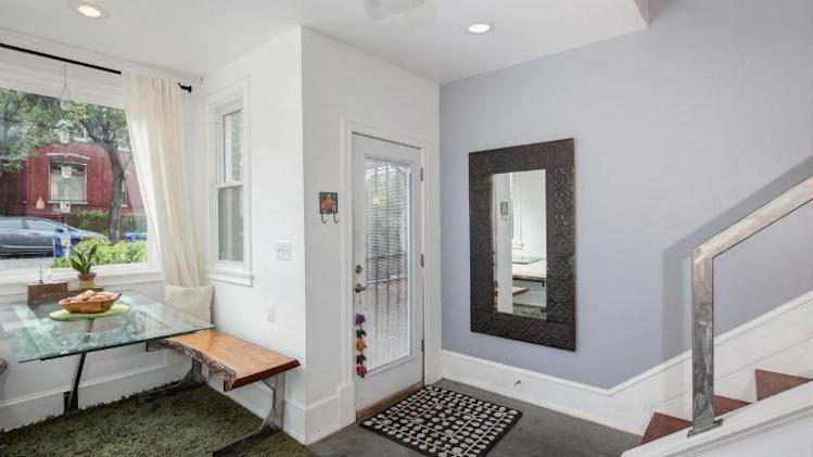 Photo tour: An ultra-narrow house in D.C. concrete floor