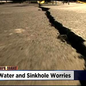 More Than 100 Water Lines Still Broken After Napa Earthquake, 10 Sinkholes Found