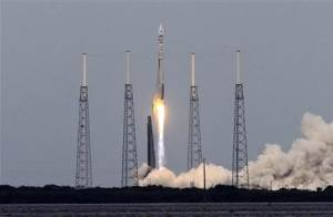 Atlas V United Launch Alliance rocket lifts off from Cape Canaveral Air Force Station carrying NASA's Mars Atmosphere and Volatile Evolution spacecraft in Cape Canaveral