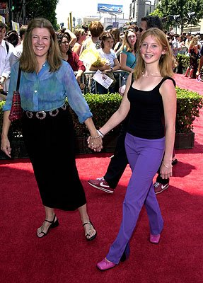 Mimi Kennedy and daughter Molly at the Hollywood premiere of Walt Disney's The Princess Diaries