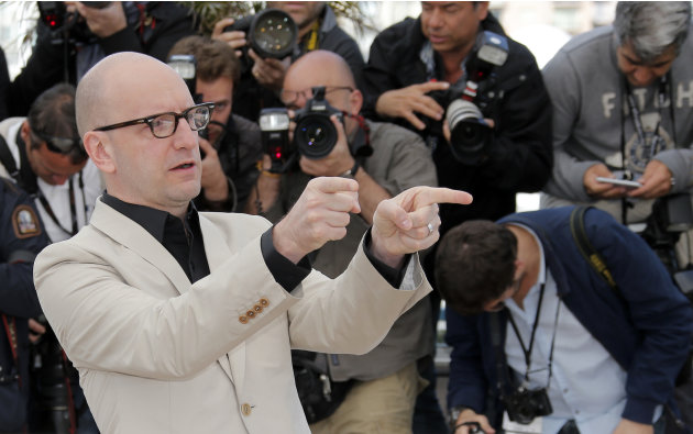 Director Steven Soderbergh poses for photographers during a photo call for the film Behind the Candelabra  at the 66th international film festival, in Cannes, southern France, Tuesday, May 21, 2013. (