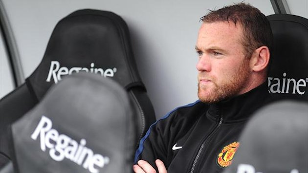 Wayne Rooney on the bench (PA Photos)