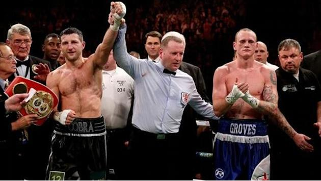 Boxing - Froch v Groves press conference throws up 'Shovegate'