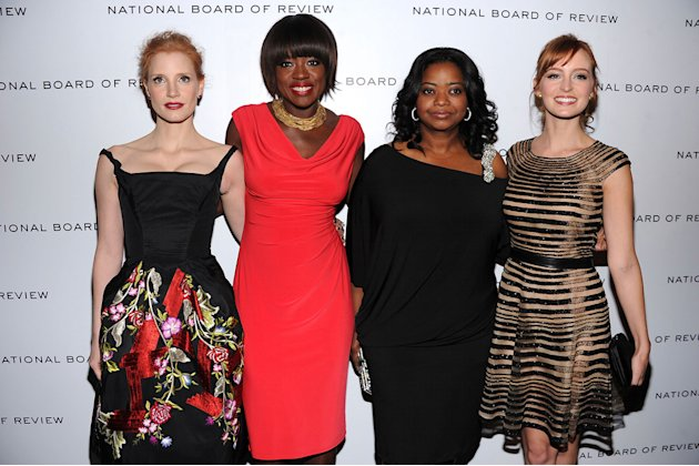 2011 National Board of Review Jessica Chastain Viola Davis Octavia Spencer Ahna O'Reilly