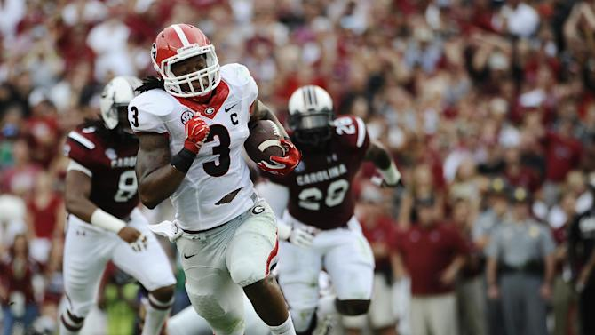Georgia's Richt not ruling out RB Chubb vs. Troy