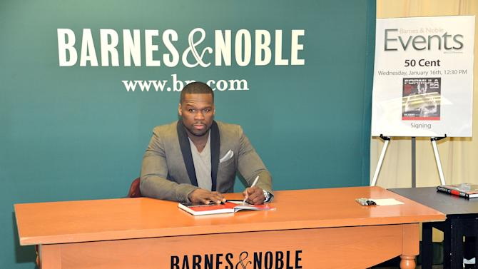 """50 Cent Signs Copies Of His Book """"Formula 50: A 6-Week Workout and Nutrition Plan That Will Transform Your Life"""""""
