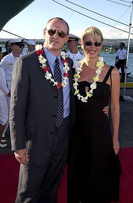 Premiere: Colm Feore and his wife Donna aboard the USS John C. Stennis at the Honolulu, Hawaii premiere of Touchstone Pictures' Pearl Harbor - 5/21/2001