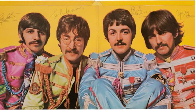 Autographed Sgt. Pepper album up for auction