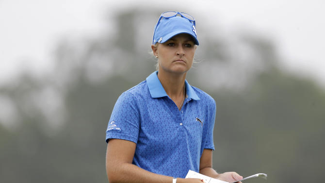 Anna Nordqvist of Norway looks over the seventh green during the second round at the U.S. Women's Open golf tournament at Sebonack Golf Club in Southampton, N.Y., Friday, June 28, 2013. (AP Photo/Seth Wenig)