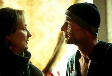 Meryl Streep as Clarissa and Ed Harris as Richard in Paramount Pictures and Miramax Films' The Hours
