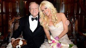 Crystal Harris Wore A Pink Romona Keveza Gown to Marry Hugh Hefner (Photos)
