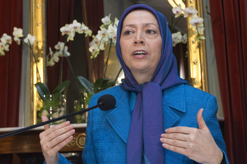 Maryam Rajavi, President of the National Council of Resistance of Iran, speaks  at a press conference at the Palais Eynard, in Geneva, Switzerland, Wednesday, Feb. 27, 2013. (AP Photo/Keystone,Salvatore Di Nolfi)