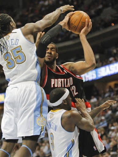 Lawson scores 18 as Nuggets beat Blazers 104-95