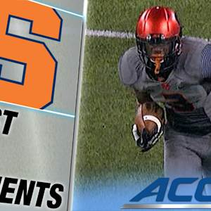 Syracuse's Durell Eskridge Leaps for Pick 6 vs Notre Dame | ACC Must See Moment