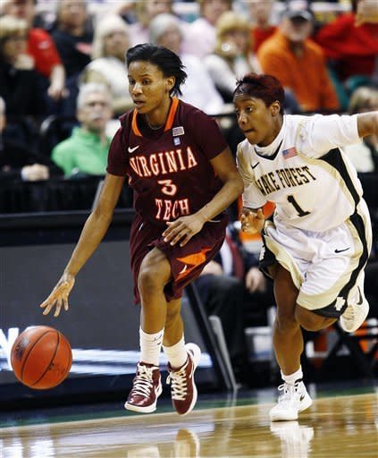 Wake Forest women beat Virginia Tech 80-74 in ACCs