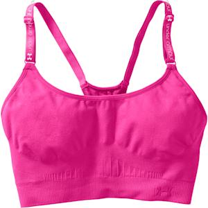 This photo provided by Under Armour shows a workout bra by Under Armour. Workout clothes, long relegated to the far end of the closet, are fast becoming a basic wardrobe staple. Everything from neon bras to CrossFit knee socks are becoming hip to wear outside the gym. Spending on activewear is outpacing general spending on clothing: the figure jumped 7 percent between 2013 and 2012 to $31.61 billion, while total clothing spending rose just 2 percent to $200.78 billion. (AP Photo/Under Armour)