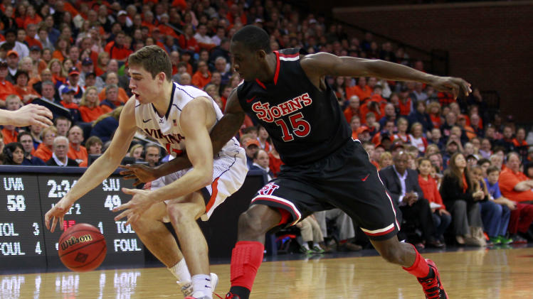 NCAA Basketball: NIT Tournament-St. John's at Virginia