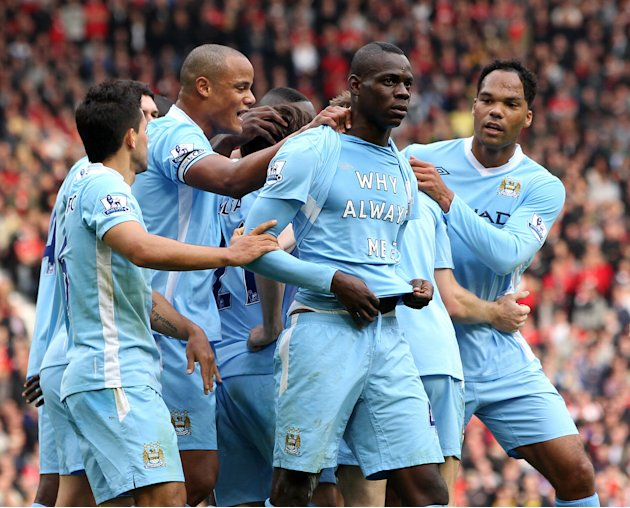 Manchester United v Manchester City, Barclays Premier League.
