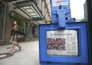 Washington Post now selling front page ads