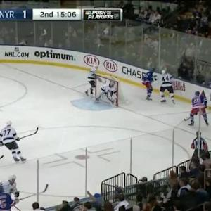 Dwight King Hit on Dan Girardi (04:57/2nd)