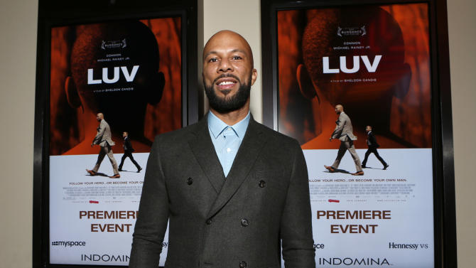 "Common attends the LA premiere of ""Luv"" at the Pacific Design Center on Thursday, Jan. 10, 2013, in West Hollywood, California. (Photo by Todd Williamson/Invision/AP)"