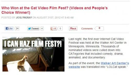 August: A Film Fest Exists for Internet Cat Videos